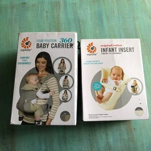 ERGO 360 BABY WITH INSERT GREY/CANVAS